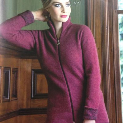 Felted jacket in Magnolia colour.Such a wonderful shape suitable for all shapes & sizes