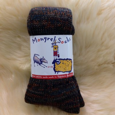 Mongrel socks Pure wool Tasmanian made