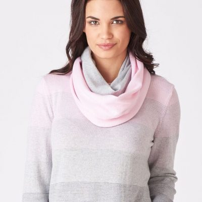 Scarves in soft colours team beautifully with merino jumpers & cardigans.