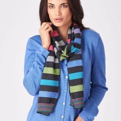Supersoft merino bright coloured scarves