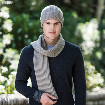 Ribbed beanie & scarf