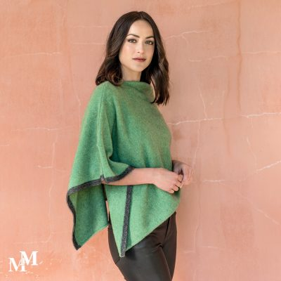 Aloe two tone poncho