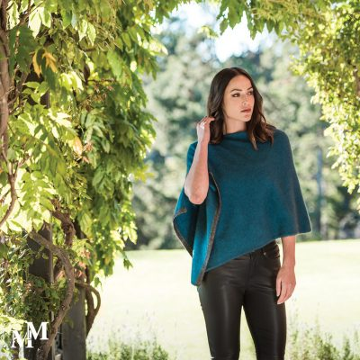 Two tone poncho in another new colour,Cravasse.