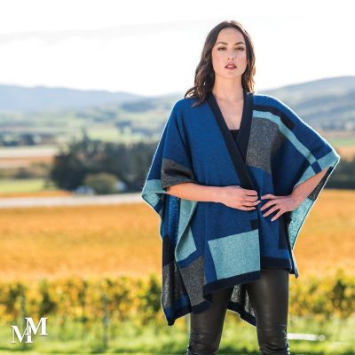 Empress Poncho -Royal multi colour way