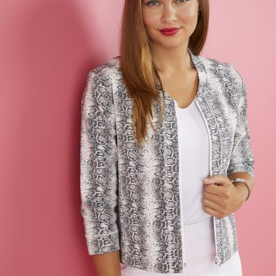 This striking jacket is so versatile