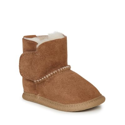 Chestnut $54.95 Sizes 0-6,6-12,12-18mths velco softsole bootie