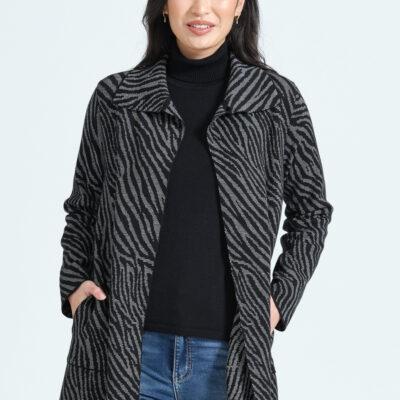 Black Animal pattern jacket