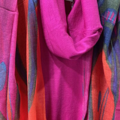 Scarves in various colours